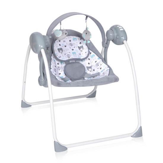 Lorelli ბავშვის ელექტრო საქანელა PORTOFINO Grey