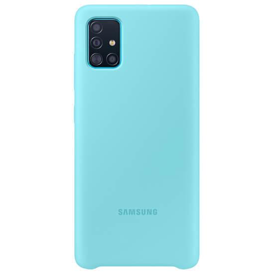 Samsung Galaxy A51 Silicone Cover Blue (EF-PA515TLEGRU)