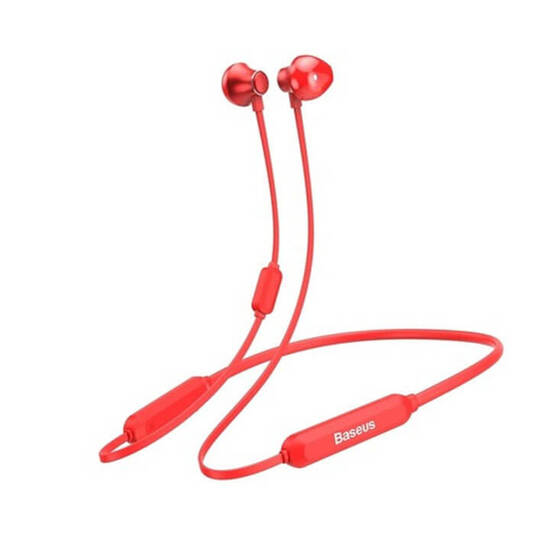Baseus Encok  Necklace Wireless Earphone S11A Red
