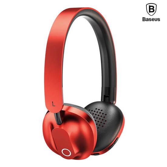 Baseus Encok Wireless Headphone D01 red