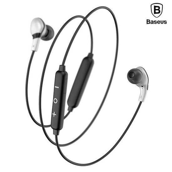 Baseus Encok Magnet Wireless Earphone S04 Silver Black