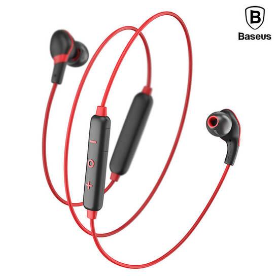 Baseus Encok Magnet Wireless Earphone S04 Black Red