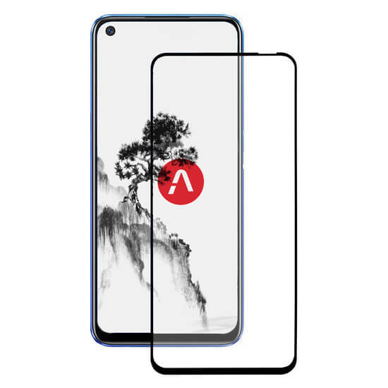 AKAMI Fullscreen glass protectro full glue for Realme 6