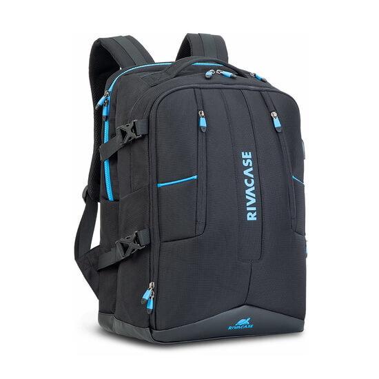 """ნოუთბუქის ჩანთა RIVACASE 7860 17.3"""" Laptop Gaming Backpack Black"""