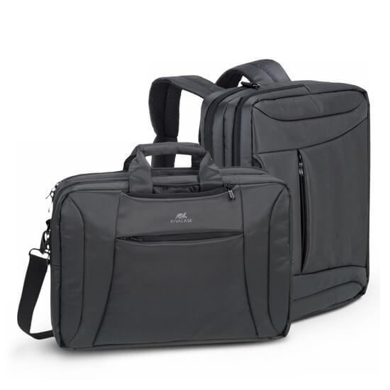ნოუთბუქის ჩანთა RIVACASE 8290 16'' convertible Laptop bag/backpack charcoal black
