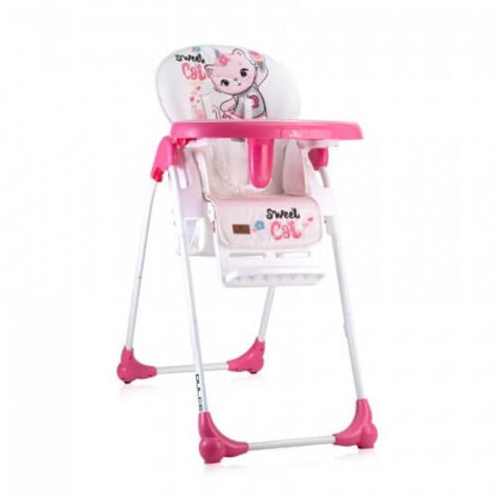 Lorelli საჭმლის სკამი DULCE Pink CAT