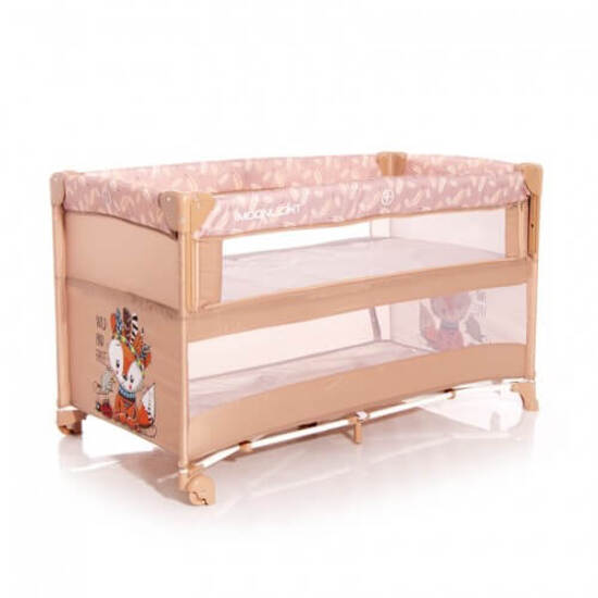 Lorelli  საწოლი Baby Cot UP and DOWN Beige FOXY