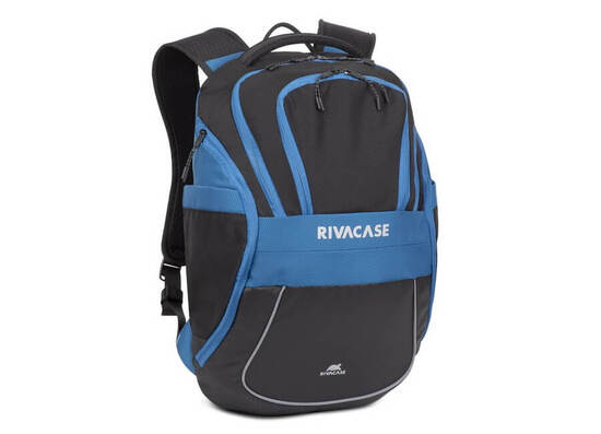 RIVACASE 5225 15.6'' Laptop Backpack - Black/Blue