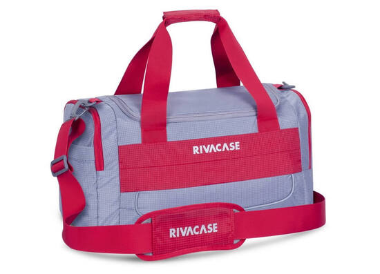 RIVACASE 5235 15.6'' Duffle Bag - Grey/Red