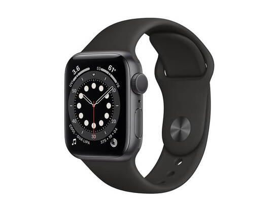 Apple Watch Series 6 GPS 40mm Space Gray Aluminium Case with Black Sport Band (A2291 - MG133GK/A)