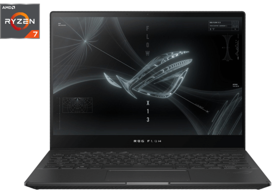 "Asus ROG Flow X13 GV301QH 13.4"" FHD  With Touch Screen  Ryzen 7 , 16GB/ 512GB SSD (GV301QH-K6054T) - Black"