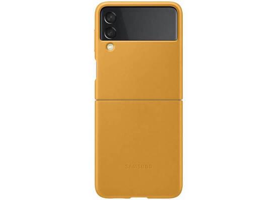 Samsung Galaxy Z Flip3 Leather Cover Mustard (EF-VF711LYEGRU)